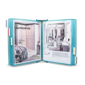 Classificador de parede 10 bolsas A4 cor azul Candy Line T-TECHNIC