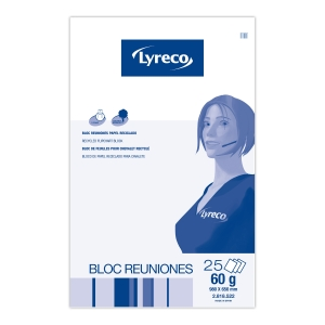 Bloco de 25 fohas de papel reciclado para quadro LYRECO