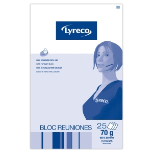 Bloco de 25 fohas papel liso para quadro LYRECO