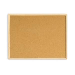 Tabuleiro de cortiça com moldura de madera BI-OFFICE dimensões 400 x 600 mm