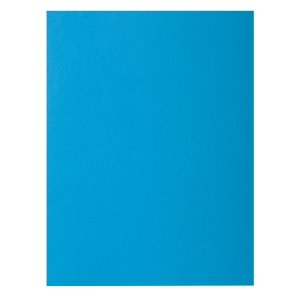 Pack de 100 subpastas A4 80 g/m2 EXACOMPTA Azul turquesa intenso