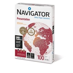 Pacote de 500 hojas de papel NAVIGATOR Presentation A3 100g/m2 branco