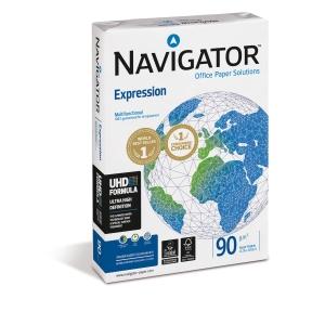 Pacote de 500 hojas de papel NAVIGATOR Expression A3 90g/m2 branco