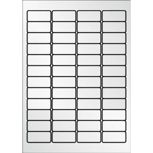 Caixa de 960 etiquetas de poliéster APLI 10066 cantos romos metalizadas