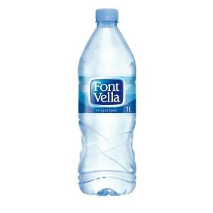 Pack de 15 garrafas de água FONT VELLA 1litro