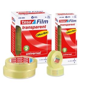 Pack 10 rollos de fita adesiva transparente TESA Office Film 15 mm x 33m