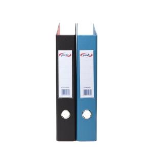 Dossier de 2 argolas em pvc pardo folio 40 preto