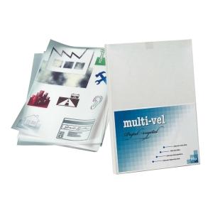 Pacote de 250 folhas de papel vegetal A4 de 90g/m2 Multi-vel