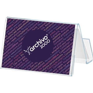 Porta cartões de visita horizontal transparenteARCHIVO 2000 Dim67x92x56mm