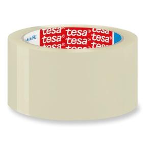 Fita de embalar PP, cor branca TESA. Dim: 66m x 50mm