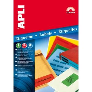 Bolsa 100 etiquetas autoadesivas para arquivadores APLI 1233 branco 190 x 61 mm