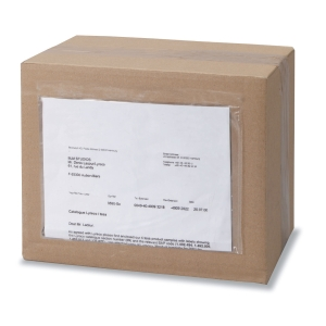 Caixa de 250 envelopes de envio transparentes. Dim: 165 x 225 mm