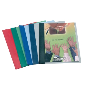 Dossier PVC A4 com fástenerMETALICo Cor azul ESSELTE