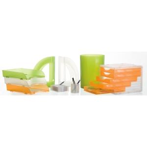 Papeleira 17 l laranja translúcido ARCHIVO 2000  Dimensões: 336x 260mm diâmetro