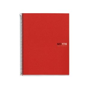 Caderno MIQUELRIUS Notebook6 150 folhas A5 microperfuração quadriculado vermelho