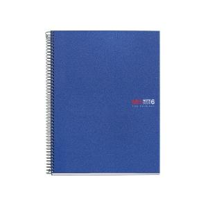 Caderno MIQUELRIUS Notebook6 150 folhas A4 micro perfuração quadriculado azul
