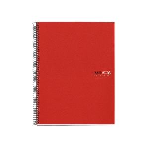 Caderno MIQUELRIUS Notebook6 150 folhas A4 microperfuração quadriculado vermelho