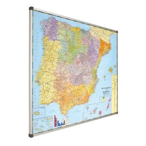 Mapa magnético de Espanha e Portugal FAIBO dimensões 1030 x 1290 mm