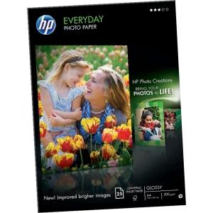 Pacote de 25 folhas A4 de 200g/m2 calidade fotográfica HP Everyday