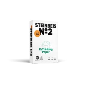 Caixa de 5 embalagens de STEINBEIS Trend Papel branco A4 80gr / m2 reciclado