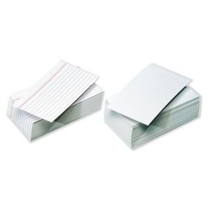Pack de 100 fichas de recarga 185 g/m2 linhas horizontais Dim: 125 x 200 mm