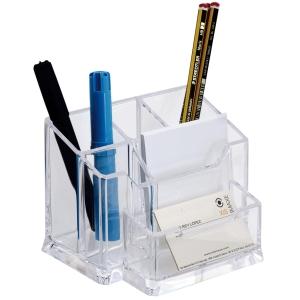 Organizador de secretaria transparente ARCHIVO 2000  Dimensões: 105x155x100mm