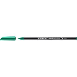 Marcador de ponta de fibra EDDING 1200 cor verde
