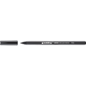 Marcador de ponta de fibra EDDING 1300 cor preta