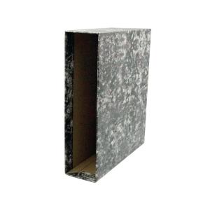Caixa cartão marmorizado lombada 82mm formato A4 LYRECO