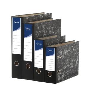 Arquivador alavanca cartão marmorizado lombada 75mm formato A4 LYRECO