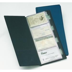 Porta cartões PVC para 160 cartões/20bolsas cor preta