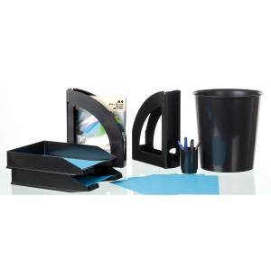 Papeleira 15 l preto opaco ARCHIVO 2000  Dimensões: 310mm alto x 290mm diâmetro