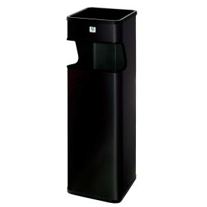 Papeleira/cinzeirometal preta c/recolhe beatas B-33  Dimensões: 180x660x180mm
