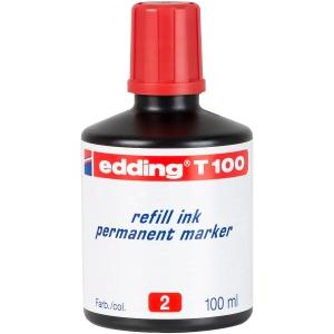 Tinta pernamente de cor vermelha para marcadores EDDING