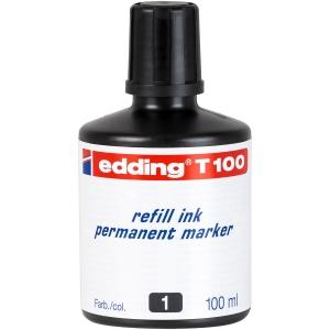 Tinta pernamente de cor preta para marcadores EDDING
