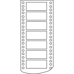 Caixa de 4000 etiquetas APLI 7 impressora de agulhas 1 saída 101,6x36 mm brancas