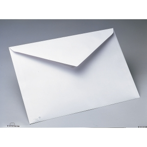 Caixa 250 envelopes brancos PLANO PRINT papel offset. Dim: 260 x 360 mm