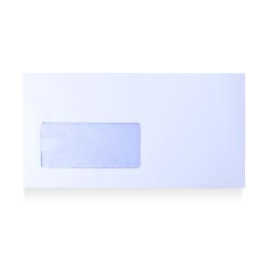 Caixa 500 envelopes brancos AUTODEX papel offset janela esquerda Dim: 115x225 mm