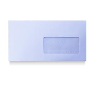 Caixa 500 envelopes brancos AUTODEX papel offset janela direita. Dim: 115x225mm