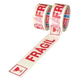 Fita pre-impressa FRAGIL. Dim: 50 mm x 132 m. TESA
