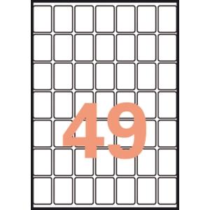 Caixa de 735 etiquetas autocolantes A5 APLI 1865 cantos redondos 19x27mm brancas