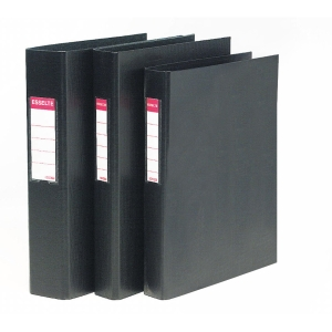 Dossier de 2 argolas esselte em pvc folio preto
