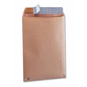 Caja 250 bolsas con fuelles laterales kraft verjurado 280 x 365 mm