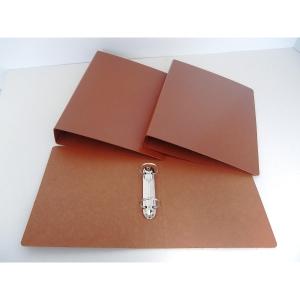 Dossier de 4 argolas folio em cartão castanho