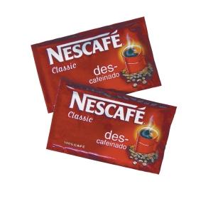 Caixa de 10 pacotes de 2g de café solúvel descafeinado NESCAFÉ