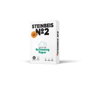Pacote de 500 folhas STEINBEIS Trend White A3 80gr / m2 de papel reciclado