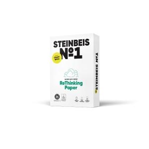 Pacote de 500 folhas STEINBEIS ClassicWhite A3 de 80g/m2 reciclado