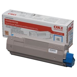 Toner laser OKI ciano 43872307 para C5650/C5750