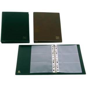Porta cartões de 4 anilhas PVC preto 60 cartões GRAFOPLAS