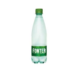 Pack de 6 garrafas de água com gás FONTER 50cl